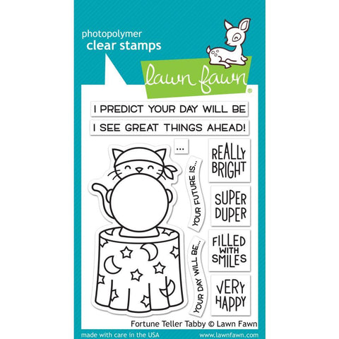 Lawn Fawn - Clear Stamps 3 inch X4 inch - Fortune Teller Tabby
