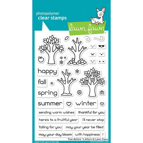 Lawn Fawn - Clear Stamps 4 inch X6 inch - Tree Before n Afters