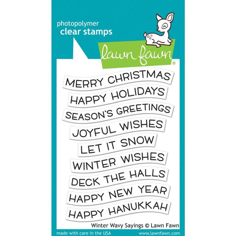 Lawn Fawn - Clear Stamps 3 inch X4 inch - Winter Wavy Sayings