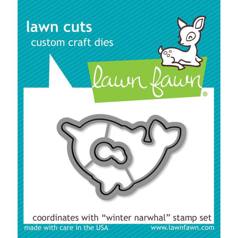 Lawn Cuts - Custom Craft Die - Winter Narwhal