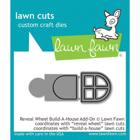 Lawn Cuts - Custom Craft Die - Reveal Wheel Build-A-House Add-On
