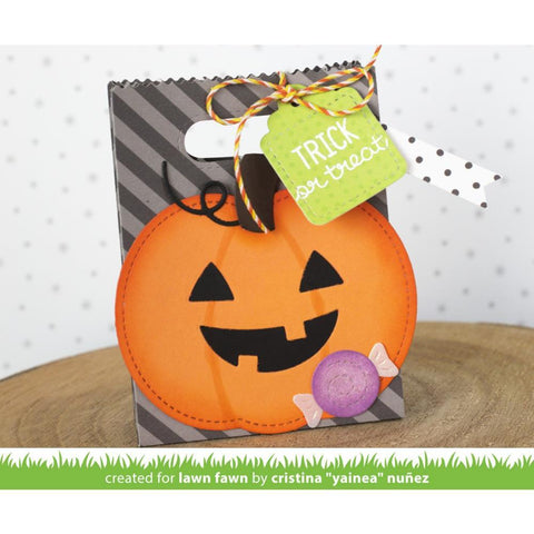 Lawn Cuts - Custom Craft Die - Outside-In Stitched Pumpkin