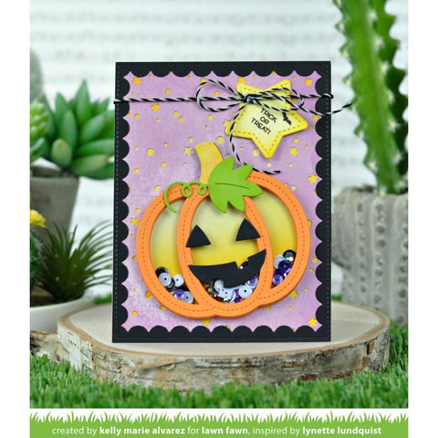 Lawn Cuts - Custom Craft Die - Stitched Pumpkin Frame