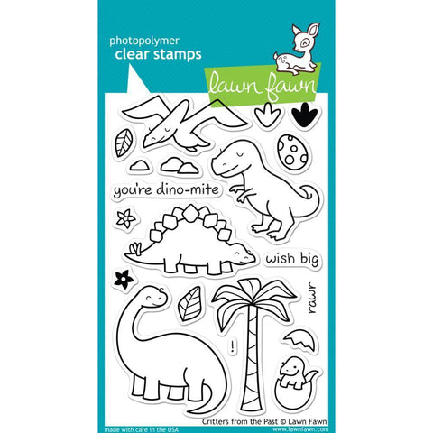 Lawn Fawn Clear Stamps 4 inch X6 inch Critters From The Past
