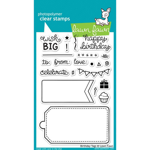 Lawn Fawn Clear Stamps 4inch X6inch - Birthday Tags