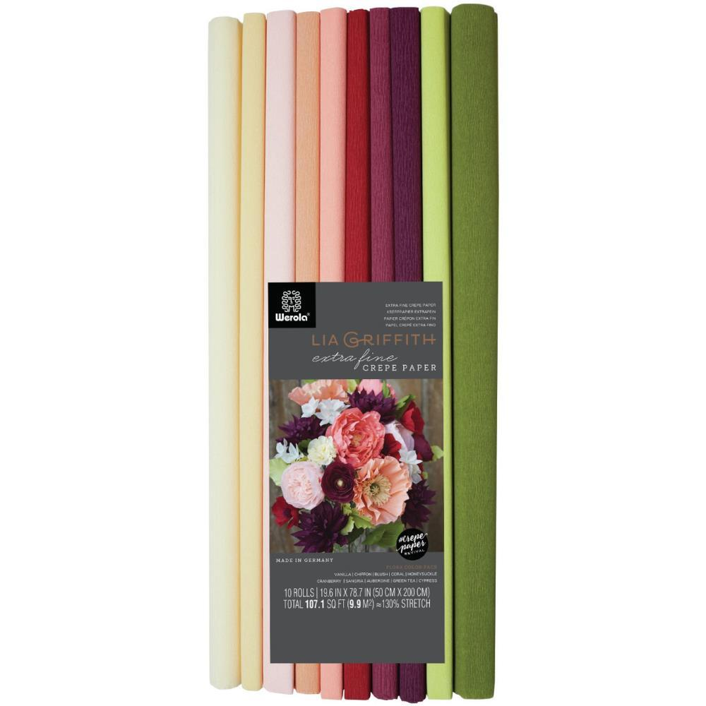 Lia Griffith - Extra Fine Crepe Paper Assortment 10 pack - Assorted Colours