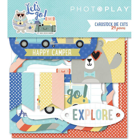 PhotoPlay - Lets Go! Cardstock Die-Cuts 29 pack