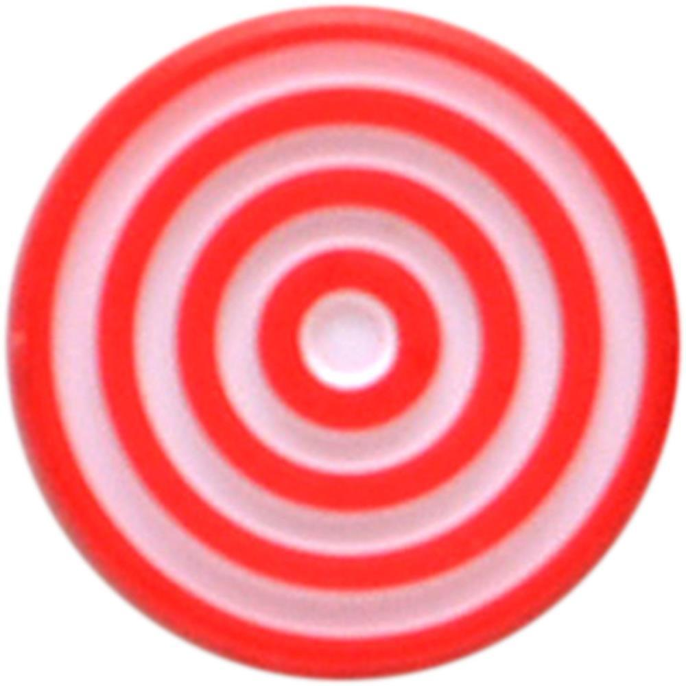 Queen & Co Lollies Self-Adhesive Embellishments 12 pack - Red