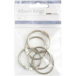 Kaisercraft Album Rings - Split Metal Medium (3.5cm) 5 Pack - Silver