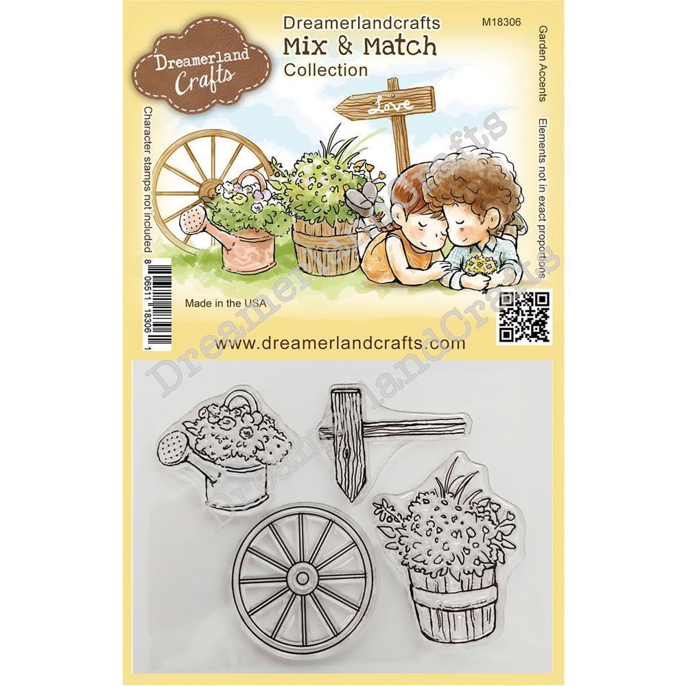 Dreamerland Crafts Mix & Match Clear Stamp Set 4 inch X3 inch - Garden Accents