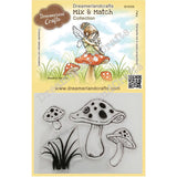 Dreamerland Crafts Mix & Match Clear Stamp Set 4x3 inch - Mushrooms & Grass