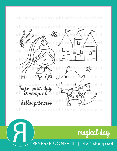 Reverse Confetti Stamp Set - Magical Day