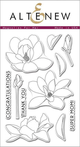 Altenew Clear Stamps - Magnolias For Her