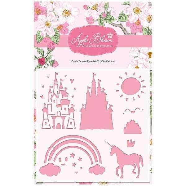 Apple Blossom Enchanted Collection - Castle Scene Stencil