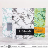 Waffle Flower Clear Stamps - Layering Marble