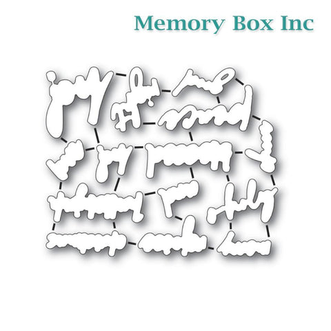 Memory Box - Bold Christmas Greetings die set