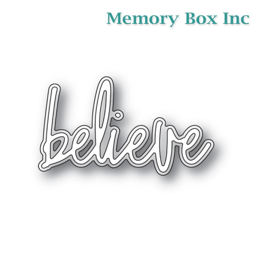 Memory Box - Believe Jotted Script craft die
