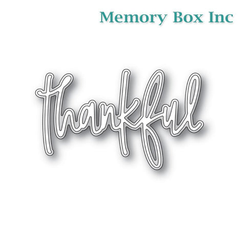 Memory Box - Thankful Jotted Script craft die