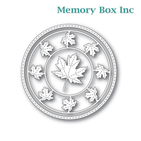 Memory Box - Stitched Maple Circle Frame craft die