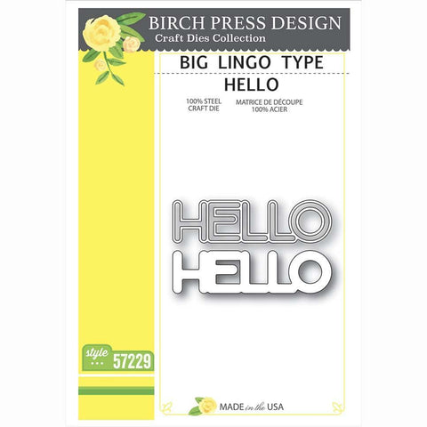 Memory Box - Birch Press Designs Die - Big Lingo Type Hello