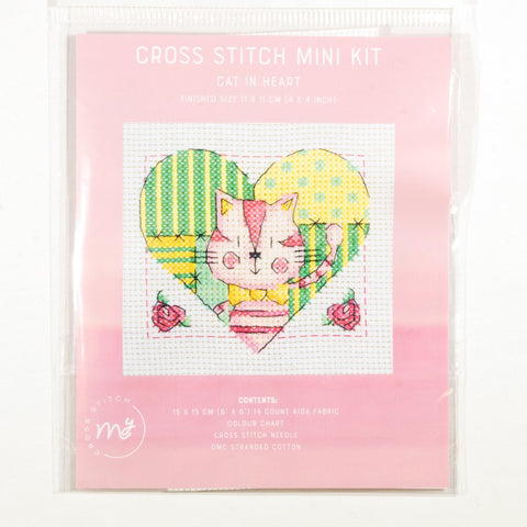 DMC Cross Stitch Kit - Cat in Heart
