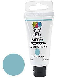 Dina Wakley Media Heavy Body 2Oz Acrylic Paints - Turquoise