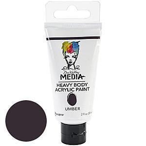 Dina Wakley Media Heavy Body 2Oz Acrylic Paints - Umber