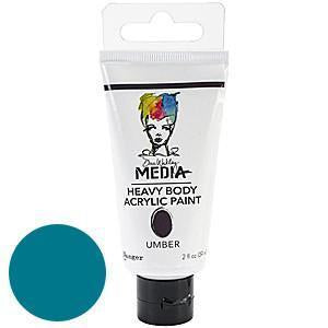 Dina Wakley Media Heavy Body Acrylic Paint 2Oz Ocean