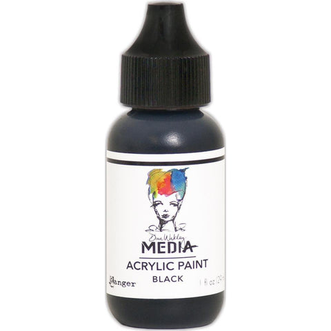 Dina Wakley Media Heavy Body Acrylic Paint 1oz - Black