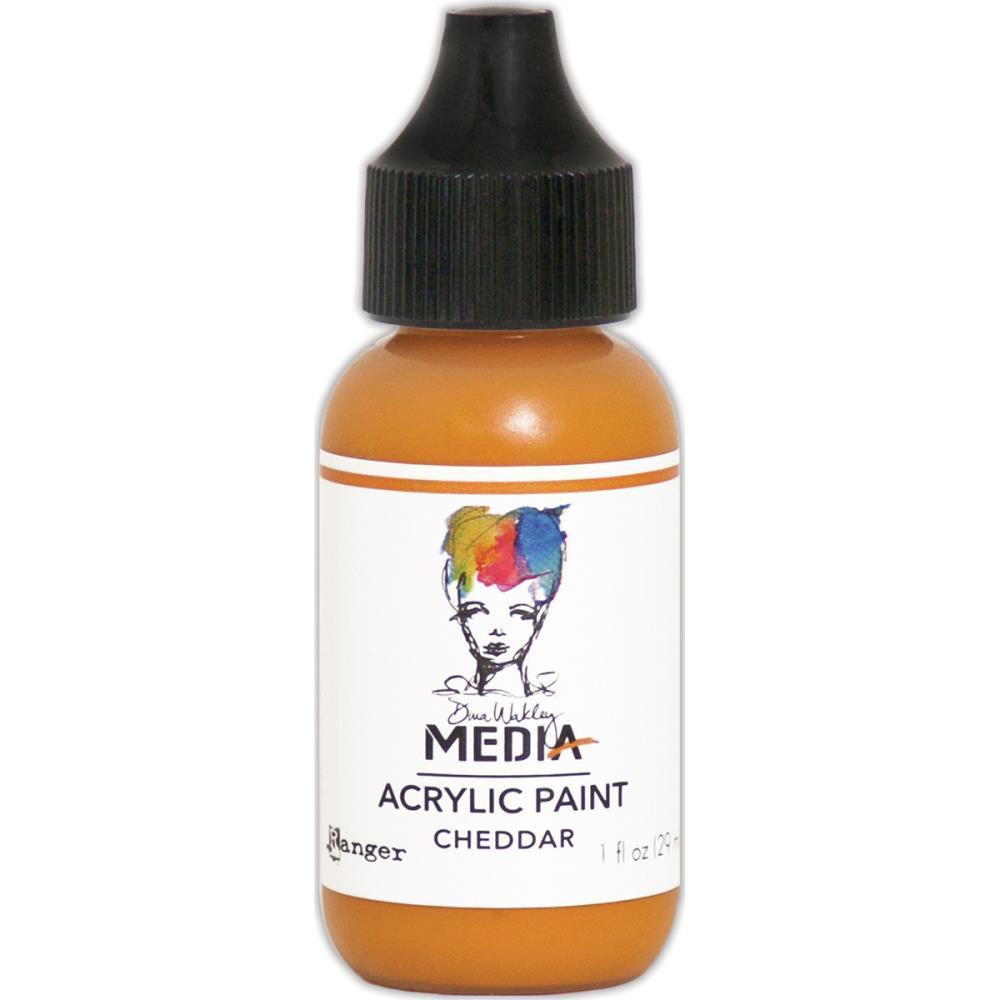 Dina Wakley Media Heavy Body Acrylic Paint 1oz - Cheddar