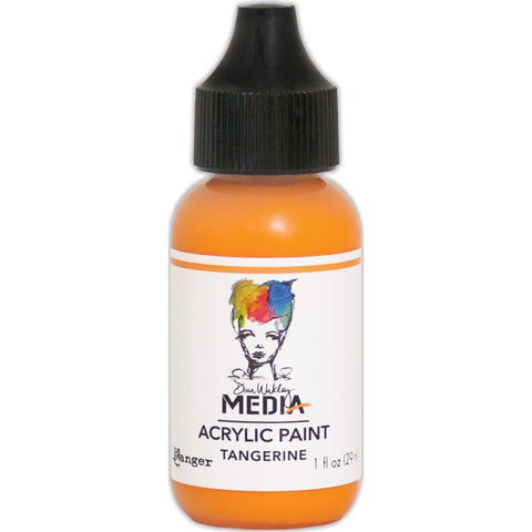 Dina Wakley Media Heavy Body Acrylic Paint 1oz - Tangerine