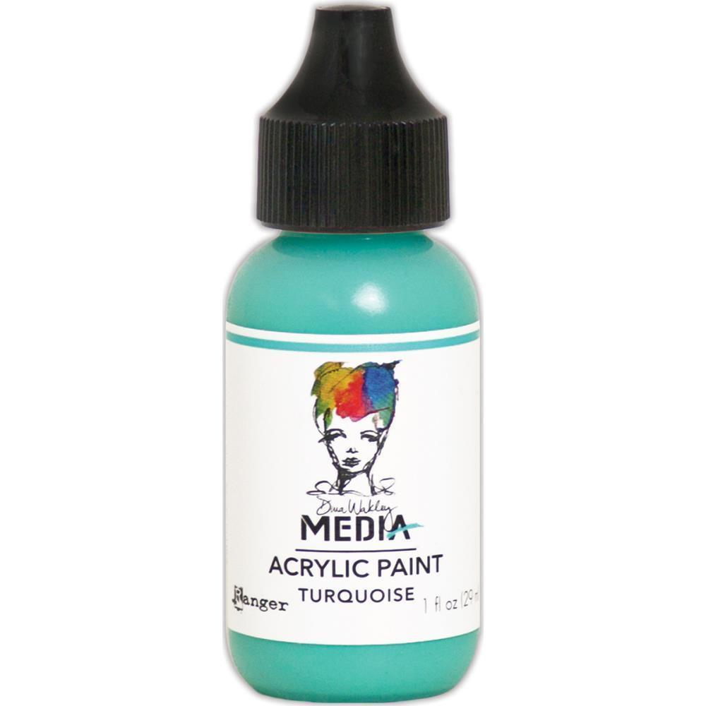 Dina Wakley Media Heavy Body Acrylic Paint 1oz - Turquoise