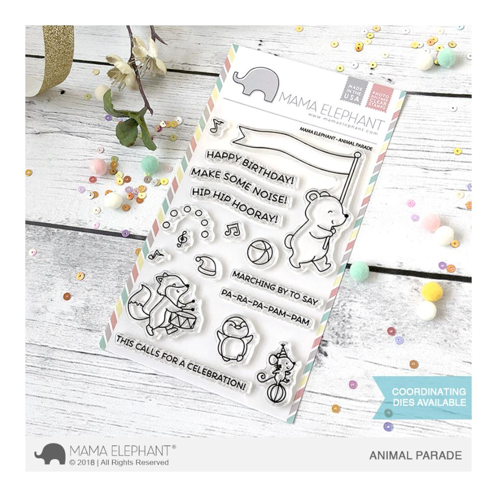 Mama Elephant - Clear 4x6 inch Stamp Set - Animal Parade