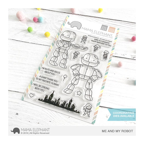 Mama Elephant - Clear 4x6 inch Stamp Set - Me and My Robot