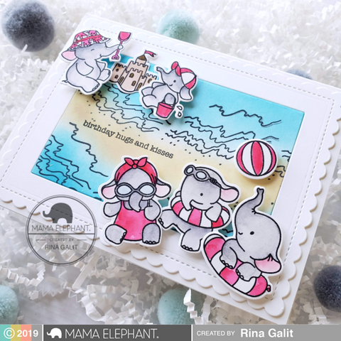 Mama Elephant - Clear Stamps - Summer Splash