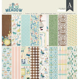 Authentique D/S Cardstock Pad 12x12 inch 24 pack - Meadow