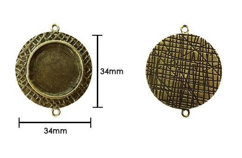 Ranger - Ice Resin Milan Bezels - Closed Back Medium Circle - Antique Bronze