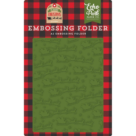 Echo Park - Embossing Folder A2 - To All A Good Night