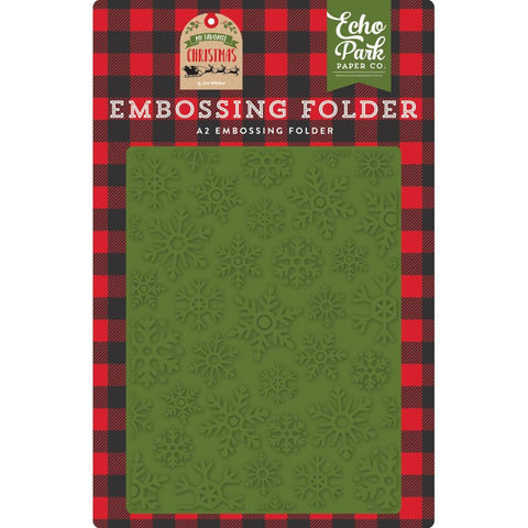 Echo Park - Embossing Folder A2 - Christmas Snowfall