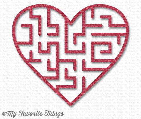 My Favorite Things - Heart Maze Shapes - Wild Cherry