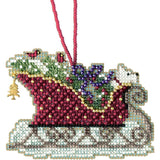 Mill Hill Counted Cross Stitch Kit 3.5 inch X2.5 inch Evergreen Sleigh (14 Count)