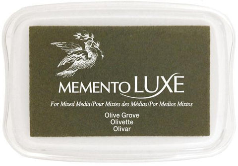 Tsukineko Memento Luxe Ink Pad - Olive Grove
