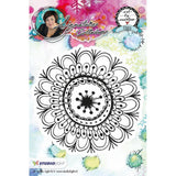 Art By Marlene Flowers Cling Stamp - Mandala #1