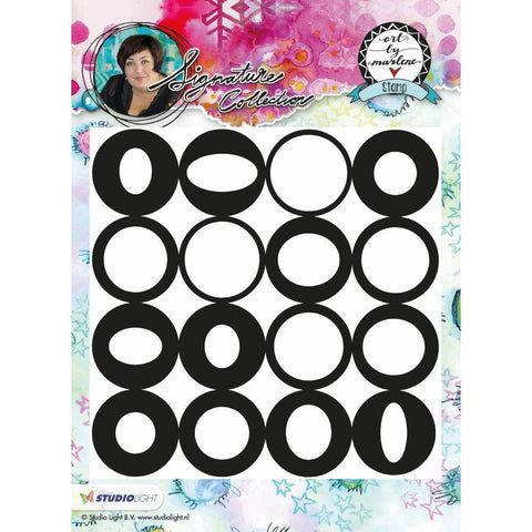 Art By Marlene Background Cling Stamp - All the Circles