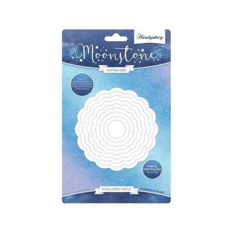 Hunkydory Moonstone Dies - Scalloped Circle, Floral Wishes