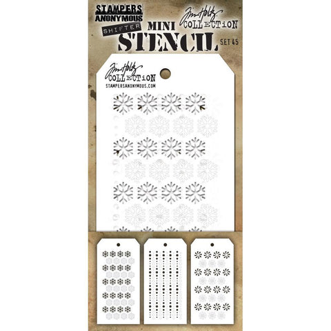 Tim Holtz Mini Layered Stencil Set 3 pack - Set #45