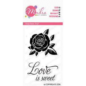 Mudra Stamps - Rose love