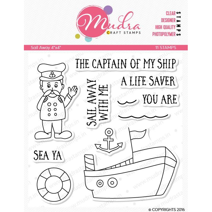 Mudra 4x4 inch Stamp Set - Sail Away