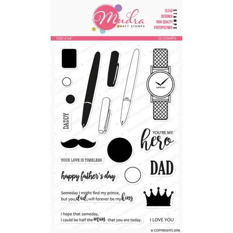 Mudra 6x4 inch Stamp Set - Dad