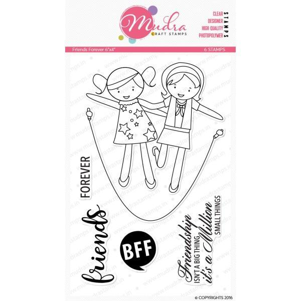 Mudra 6x4 inch Stamp Set - Friends Forever
